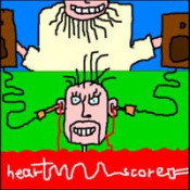 Straight To The Brain by HEARTSCORE album cover