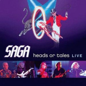 Heads Or Tales Live by SAGA album cover