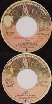 Liar/ Keep Death off the Road 45rpm by CAPABILITY BROWN album cover